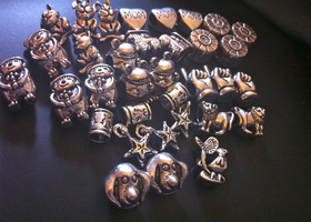 30 Tibetan Charms for Pandora-Style Jewelry
