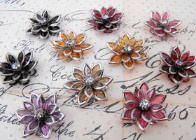 10 Piece Lotus Flower Mix Cabochons