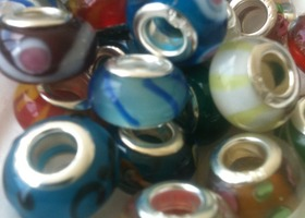 40 European Murano Charm Beads and MoRe