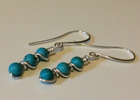 Delicate Turquoise Earrings
