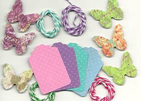 200 Swiss Dot Tags, Jubilee Butterflies & The Twinery