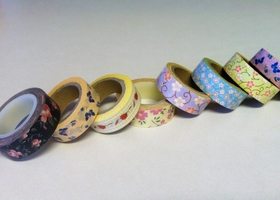 Huge Lot of Lovely Floral Washi Tape Rolls