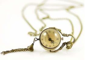 Steam Punk- Watch- Quirts Gear movement  Necklace Pocket Watch + Chain
