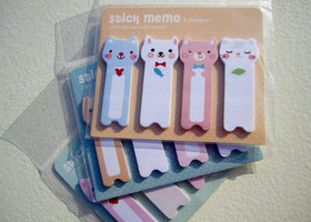 3 Sets of Adorable Animal Stick Memos