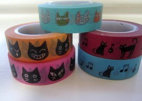 Washi Tape Lot of Cats ♥