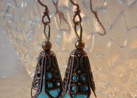 Filigree Teardrop Earrings and Bonus
