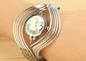 Glamour Charm Bracelet Watch - 2 Colors