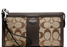 Coach Signature Zip Wallet - Kh/Mag