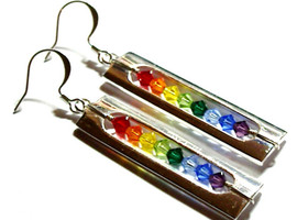 Caged Rainbow Earrings
