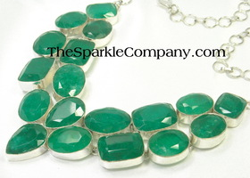 441.75 Carats Chunky Natural Emerald Necklace