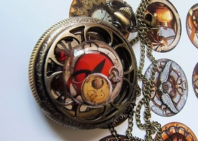 #1 Steampunk Dragons Breath Locket OOAK