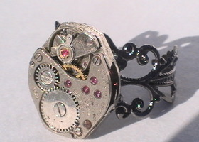 Steampunk Ring+NECKLACE See Pics-Bidding Bonus
