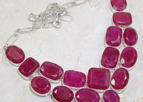 500 carats !  Ruby Gemstone necklace - Natural Genuine