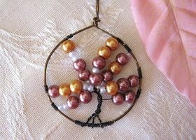 Tree of Life ~ Pearls and Swarovski