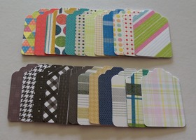 72 Dots Stripes  Plaids Bracket Tags