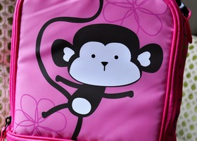 Adorable Monkey Brand New Insulated Lunch Back Pack