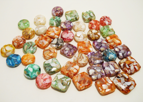 #44 Mother of Pearl and Resin Beads
