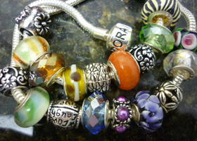 Fab Lot of 10 European Charm Bracelet Beads