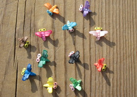 Dragonfly Set of 12 Polymer Clay Embellishments