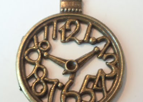 10 Bronze Clock Charms