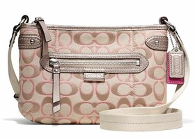NWT Coach Daisy Outline Metallic Swingpack-F49452