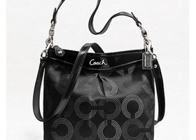 NWT Coach Ashley Dotted Op Art Hippie Bag-F20088
