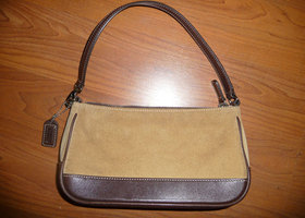 Coach Hamptons Suede Demi Bag - Pre Loved