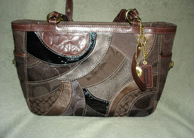 COACH Brown Gallery Patchwork Tote #12740 - EUC