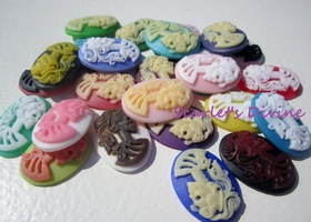 Lot of Large and Colorful Goth Lolita Skeleton Resins