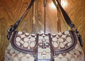 Coach Signature Flap Bag