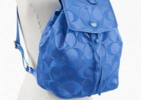 Authentic Coach Packable Backpack ~ Cool Blue