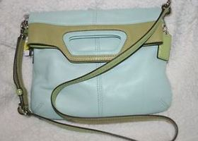 Coach Bonnie leather Fold Over Crossbody EUC