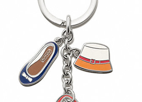 NWT Coach Accessories Multi Mix Key Ring-F65743
