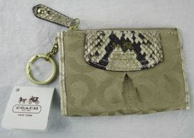 New Coach Mini Wallet Key FOB Coin PUrse