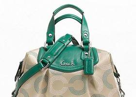 NWT Coach Ashley Dotted Op Art Satchel-F20027