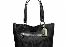 NWT Coach Poppy Signature Sateen Tote-F23522