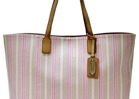 COACH 23103 Ticking Stripe Tote