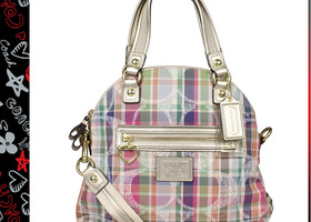 Coach F23541 Madras  Satchel Purse