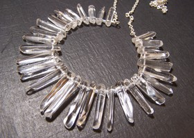 Rock crystal 'icicle' necklace