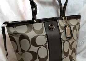 Authentic Coach Signature Tote ~ Brown