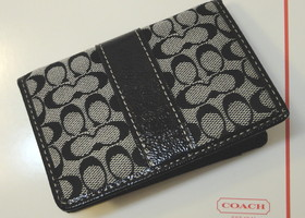 Authentic Coach Black ID Card Case