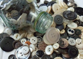 100 Vintage Buttons All Sizes and Colors