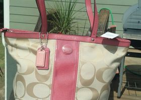 Brand New Signature Stripe Tote