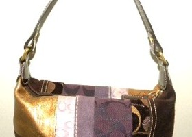 Coach Holiday Patchwork Top Handle Pouch
