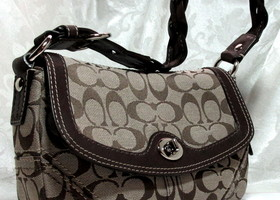 Authentic Coach Chelsea Signature Flap Hobo