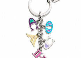 Coach Letters Key Ring