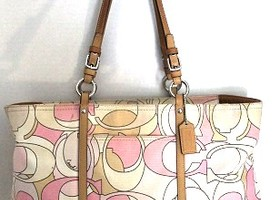 Coach Signature Scarf Tote Bag 13349
