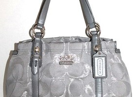 Coach Lurex Sateen Mia Carryall Satchel 15784