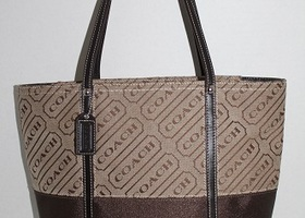 Coach Signature Lozenge Tote Bag 12252
