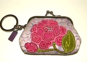 Rare Coach Poppy Coin Purse Key Chain